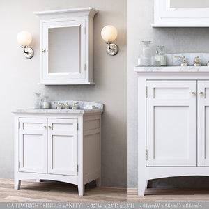 3D cartwright single vanity
