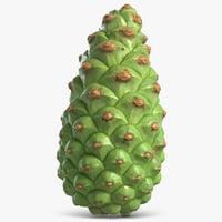 fir cone green 3D model