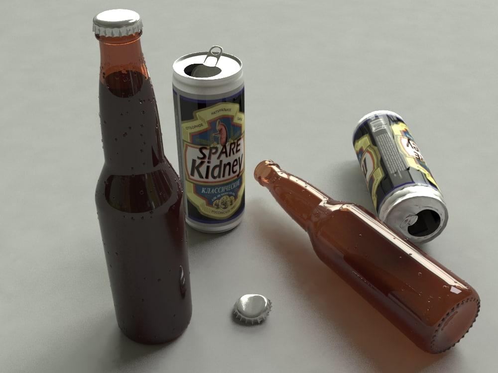 3D beer pack model