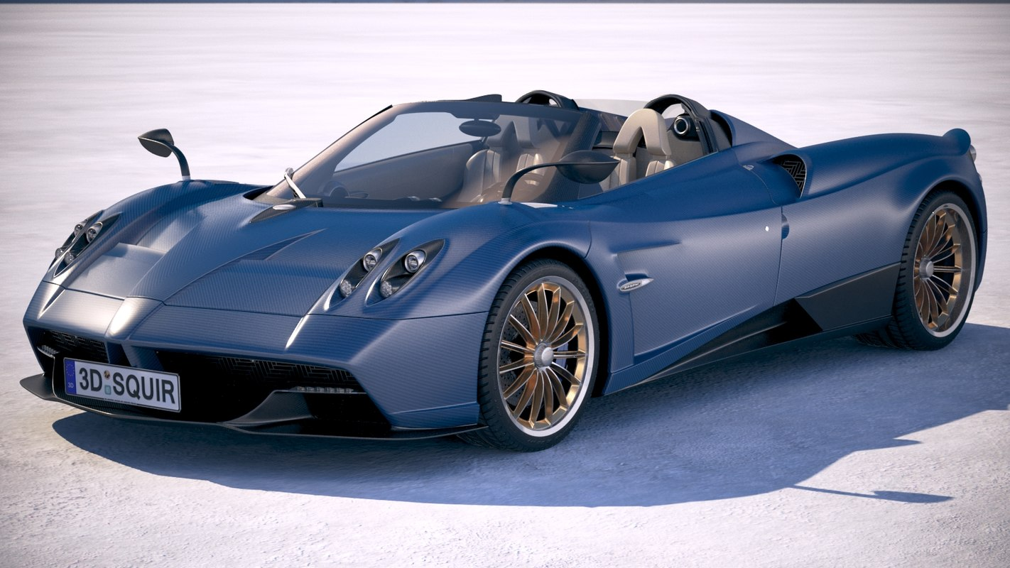 3d model pagani huayra roadster turbosquid 1168509. Black Bedroom Furniture Sets. Home Design Ideas