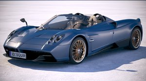 3D model pagani huayra roadster