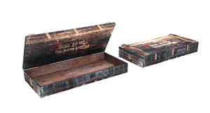 3D ammo crate military surplus model