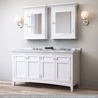 RH CARTWRIGHT DOUBLE VANITY