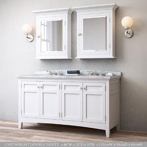 cartwright double vanity 3D model