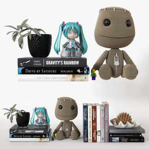 3D shelf decor model