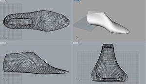 3D pack woman shoe lasts