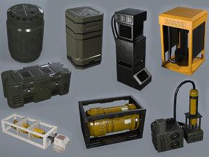 3D sci-fi assets model