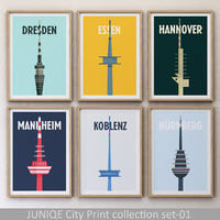 juniqe city print set-01 3D model