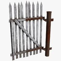 3D old gate model
