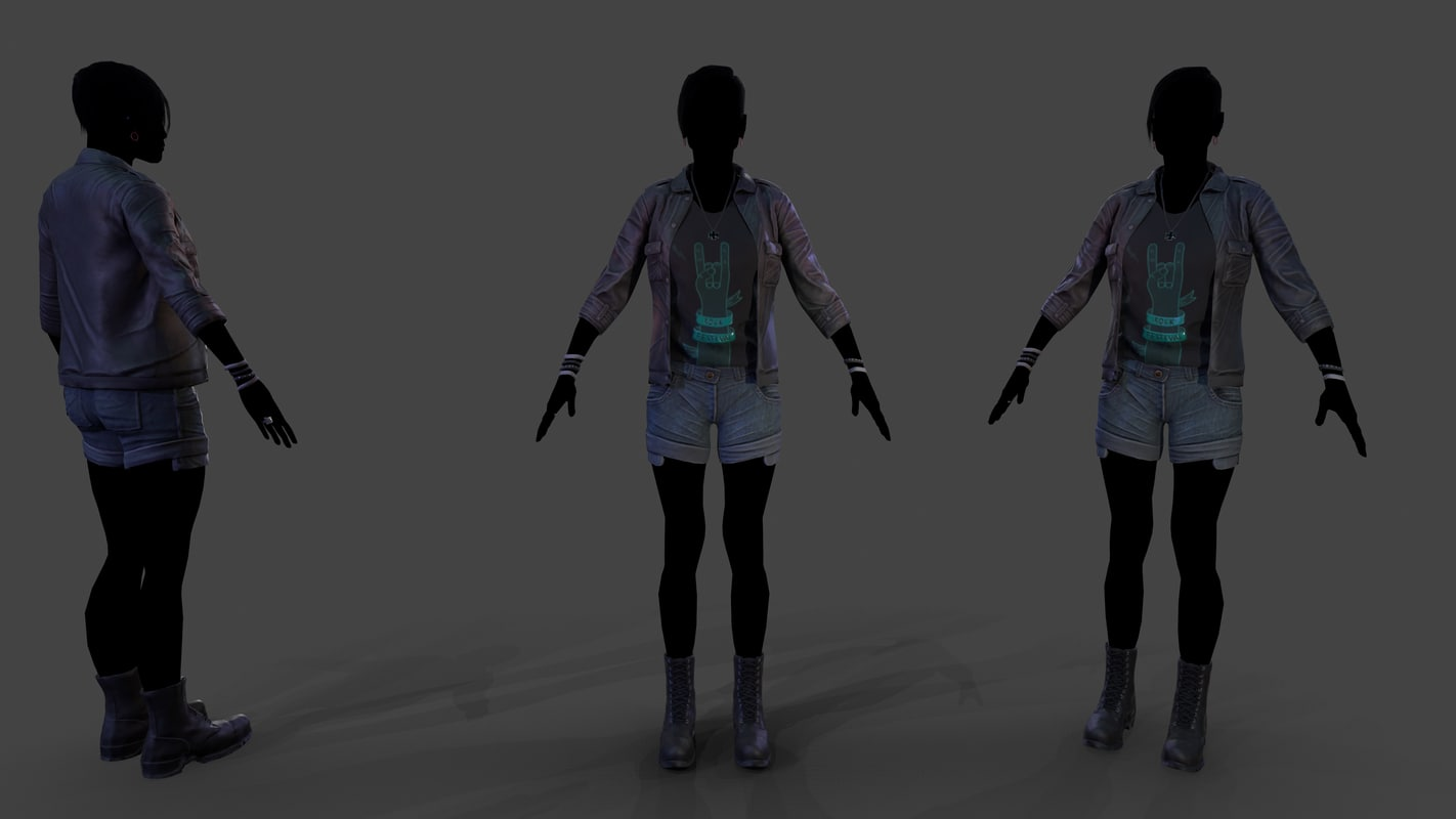female outfit 2 3D model