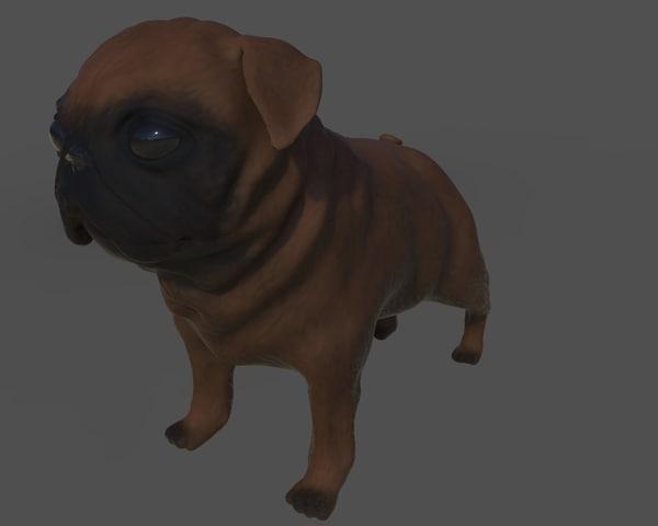 3D pug model