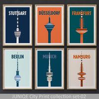 JUNIQE City Print collection set-02