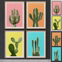 3D juniqe cactus print framed