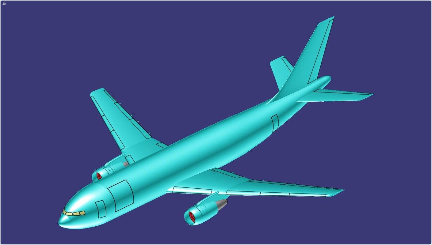 3D airbus a300-600f cargo aircraft