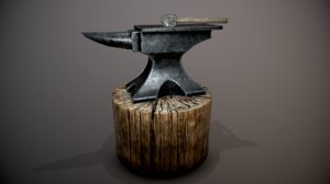 3D anvil hammer stump
