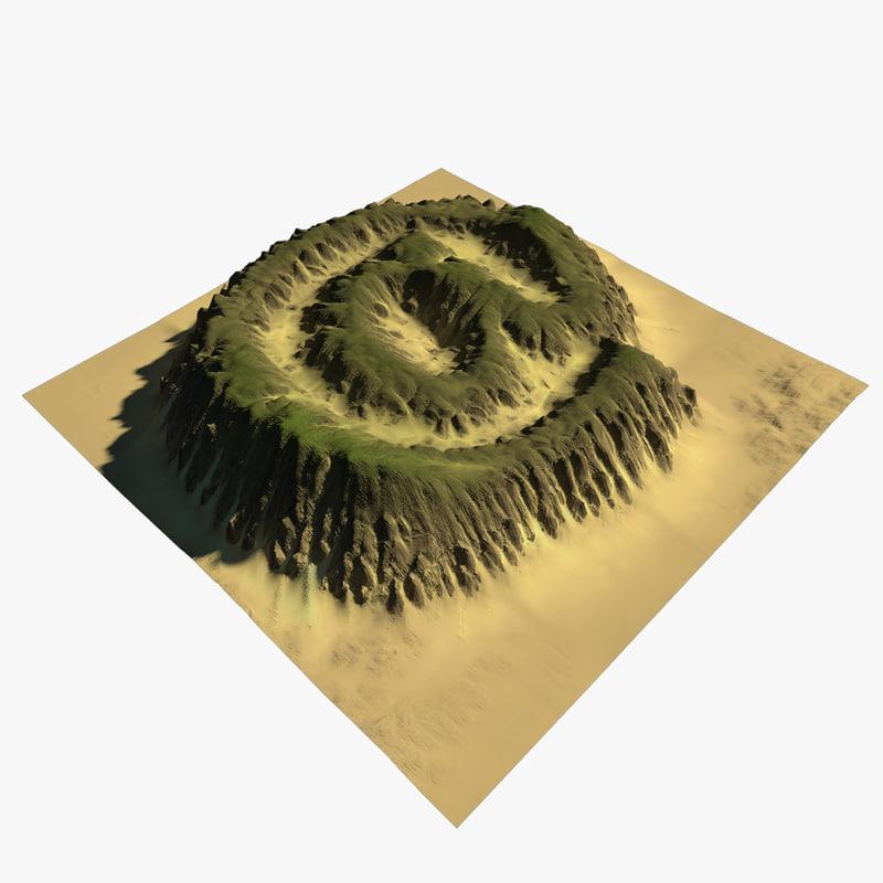 sign terrain 3D