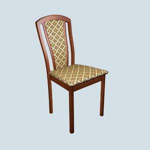 3D dining chair merbau model