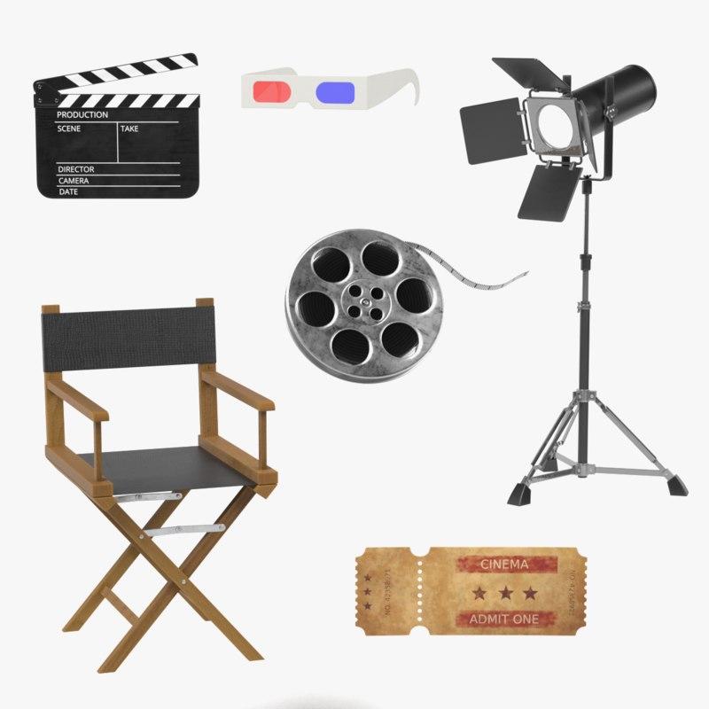 3D model movie set
