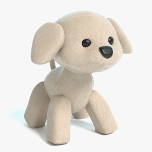 stuffed animal dog 3D model