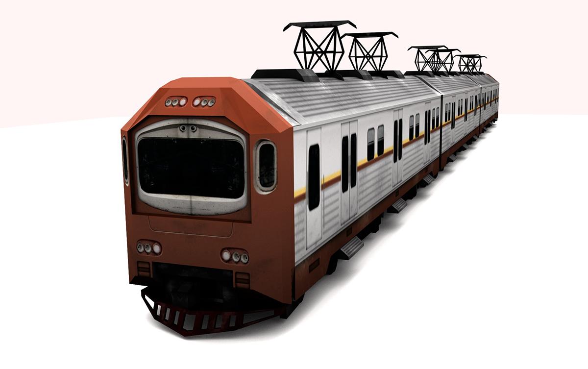 electric train 3D