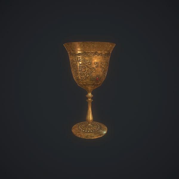 3D goblet pbr