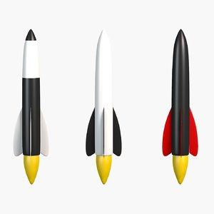 cartoon rockets toon model