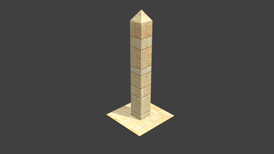 3D obelisk