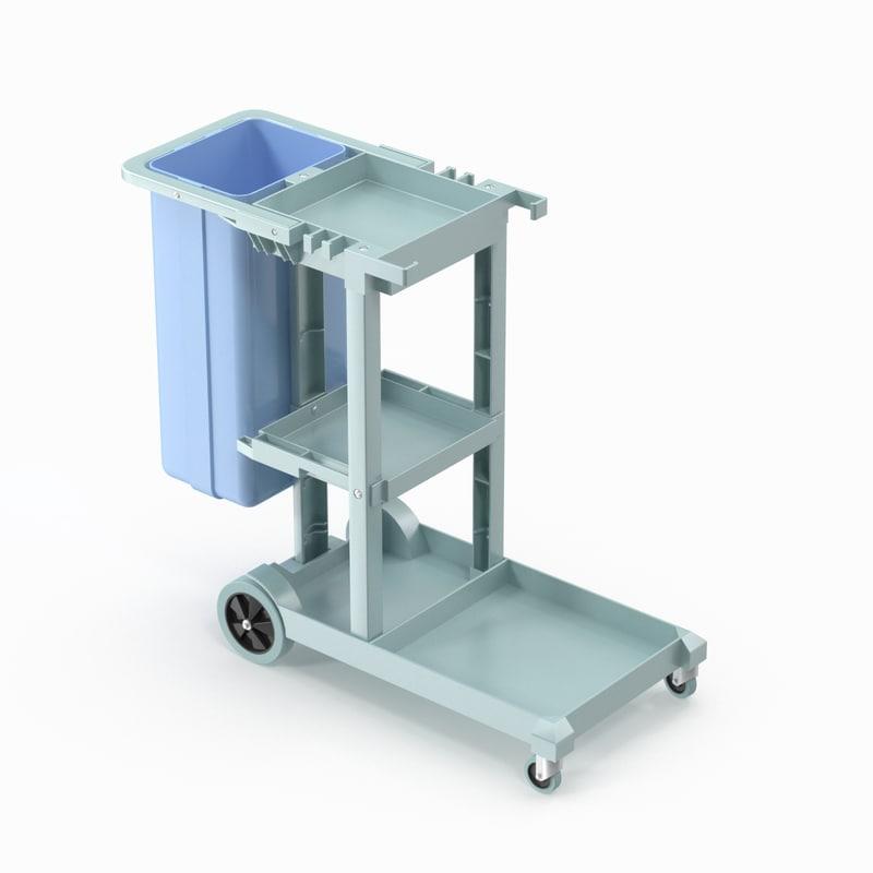 janitorial cart 3D model
