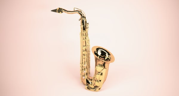 saxophone instruments 3D model