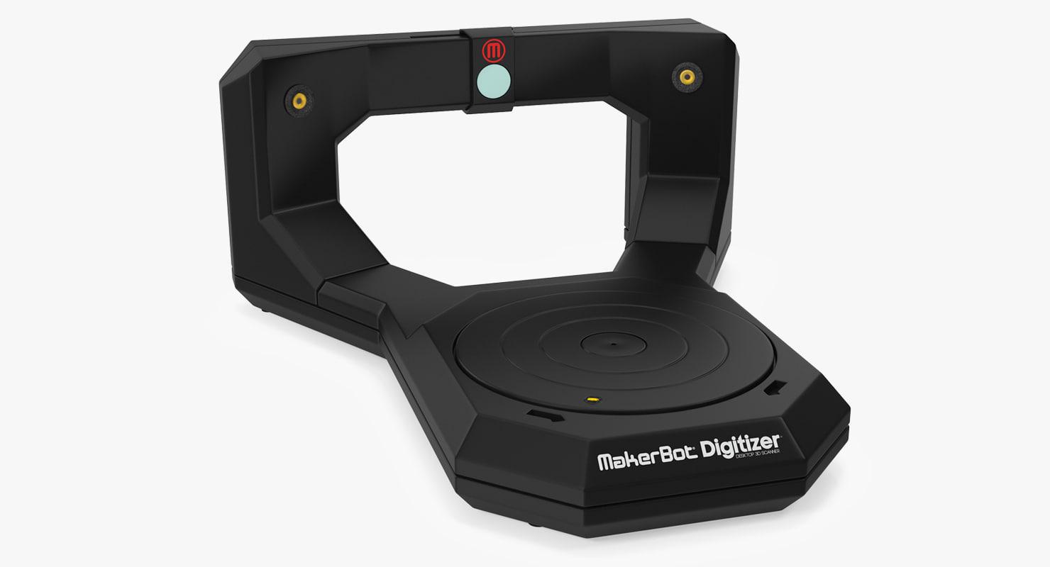 3D desktop scanner makerbot digitizer model