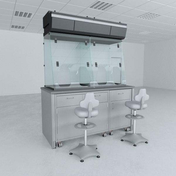 biosafety cabinet lab 3D