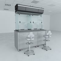 biosafety cabinet lab 3D