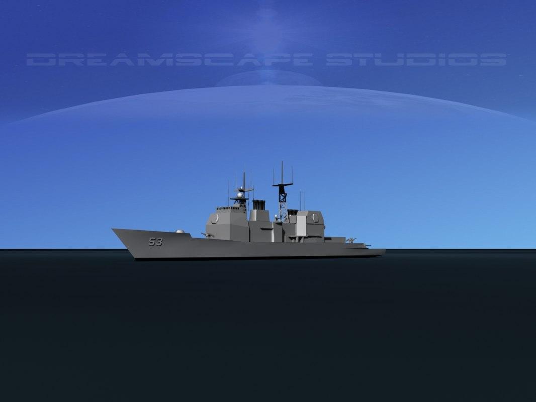 ticonderoga cruiser aegis 3D model