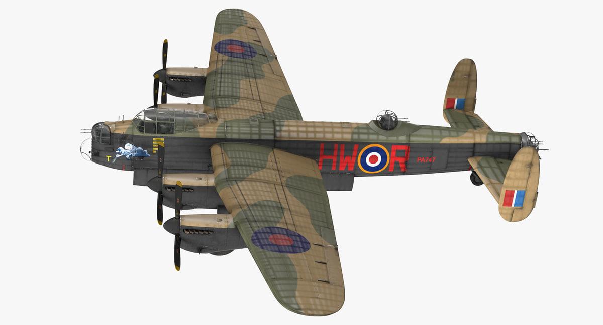 3D model british heavy bomber avro lancaster