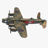 3D model british heavy bomber avro lancaster