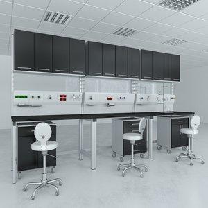 3D lab furniture typical set