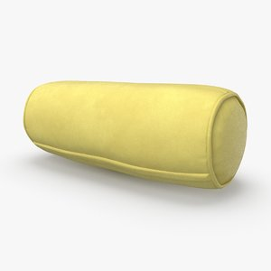 3D bolster-cushion-03---yellow