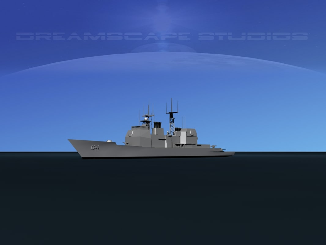 3D model ticonderoga cruiser aegis