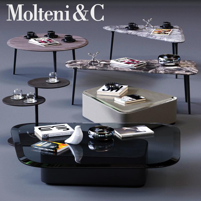 molteni c coffee tables 3D model
