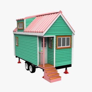tiny house trailer 3D model