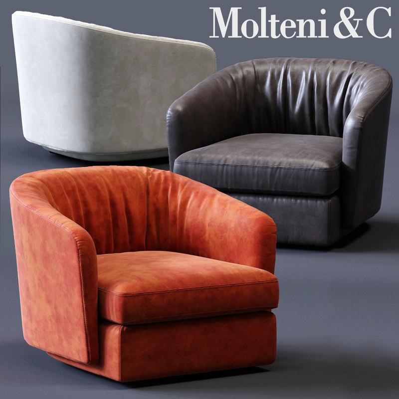 3D molteni c holborn armchair