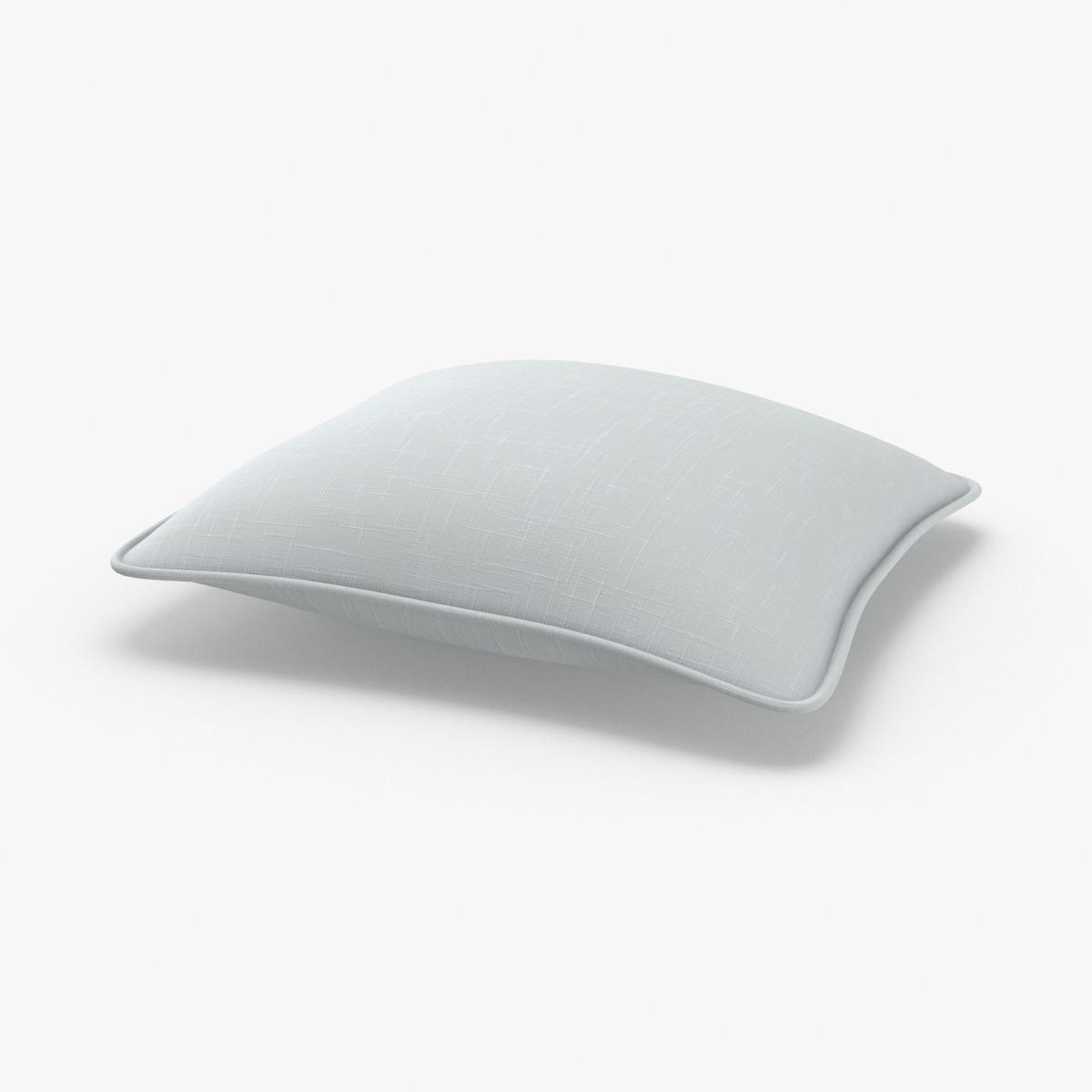 3D model throw-pillow-01---light-green-rectangle