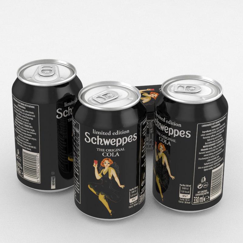 3D beverage schweppes limited model