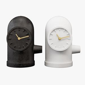 realistic clock leff amsterdam 3D model