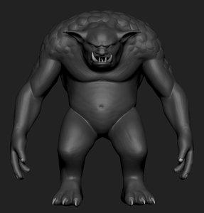 3D polygonal troll