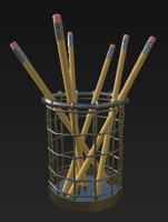 metal pencil holder 3D model