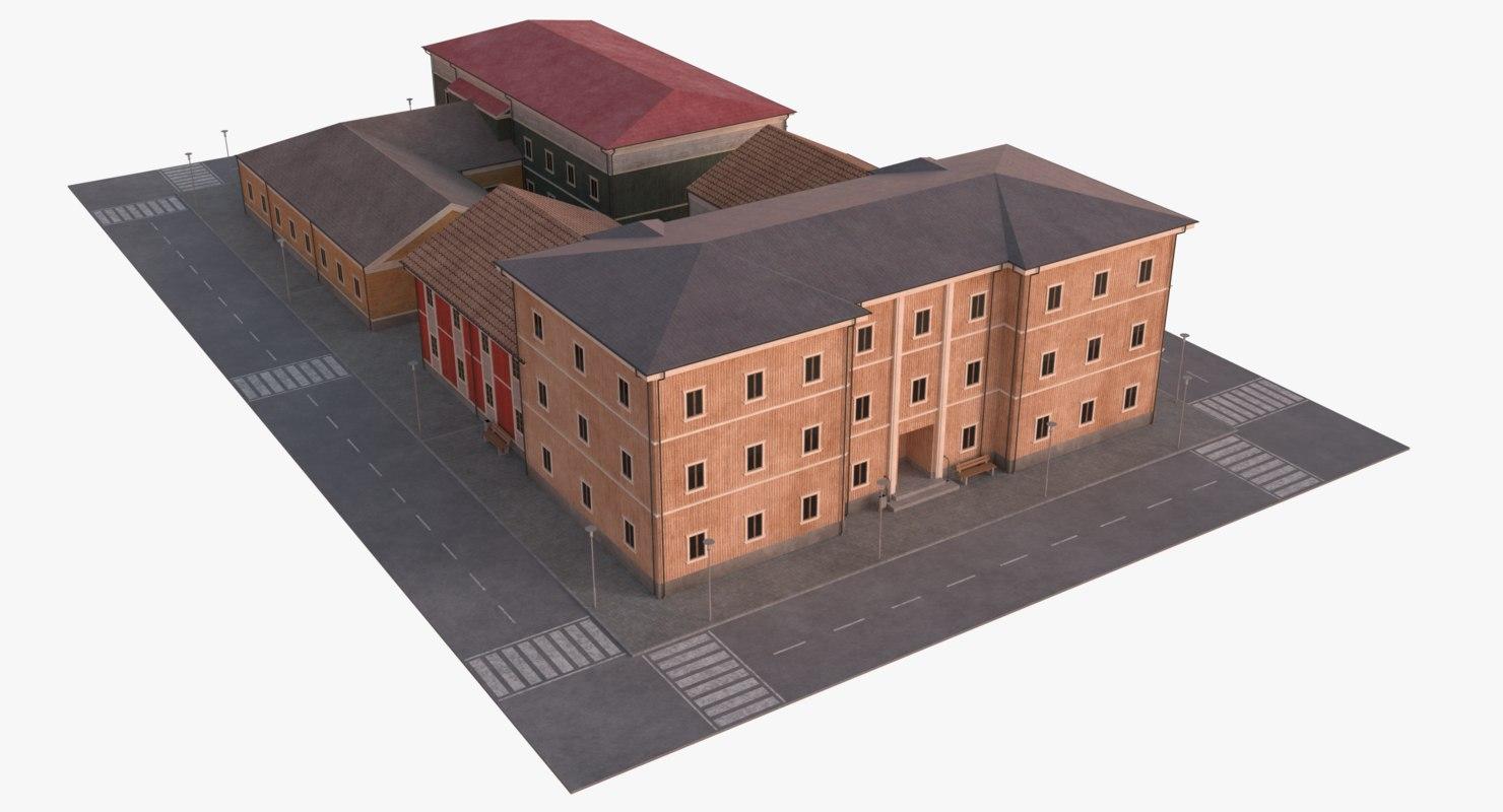 3D scandinavian city block