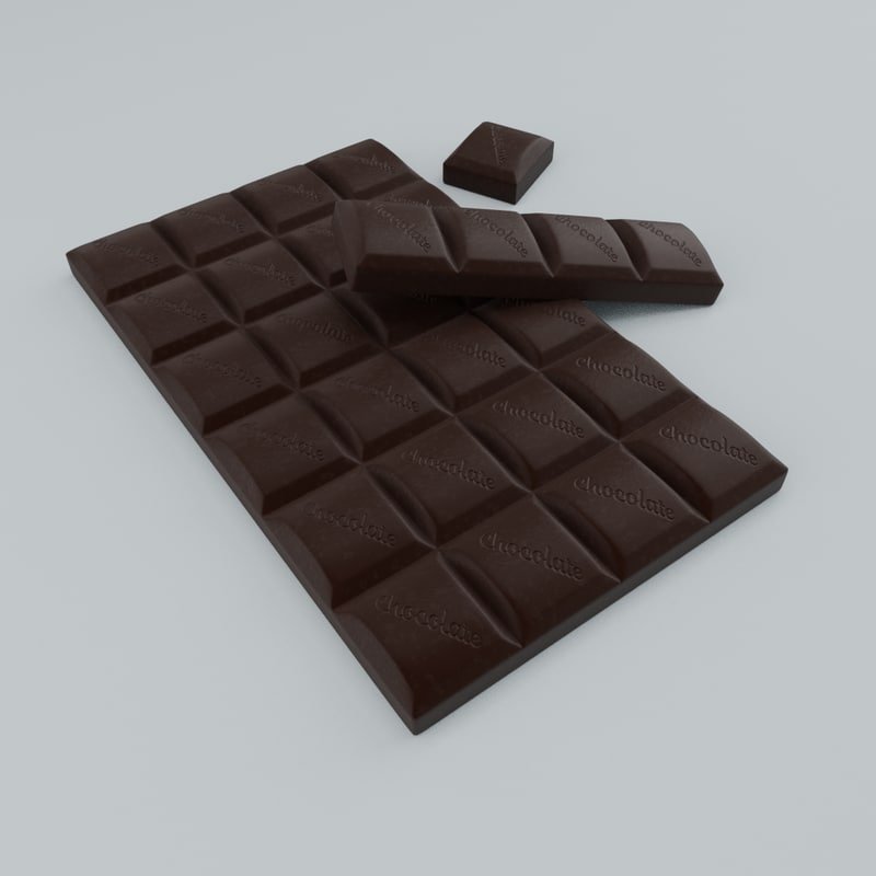 3D model chocolate product