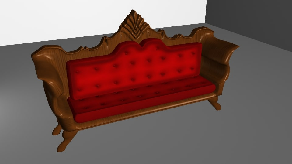 3D antique sofa model