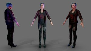 3D female outfit 1 model